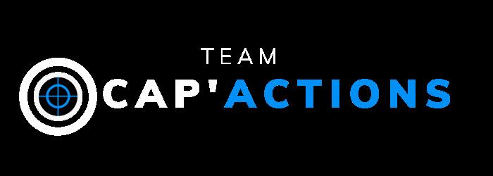 Logo Cap'Actions - formations professionnelles - blanc